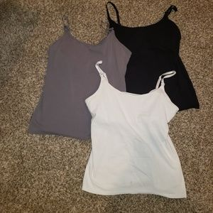 3 Nursing tank tops.